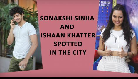 Sonakshi Sinha and Ishaan Khatter  Spotted In the cit