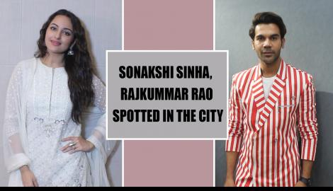 Sonakshi Sinha promotes her film Khandaani Shafakhana in style, Rajkummar Rao & Sunny Leone papped in the city