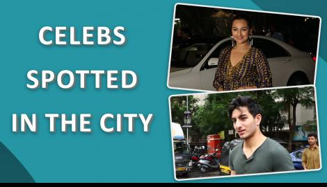 Sonakshi Sinha and Ibrahim Ali Khan spotted in the city