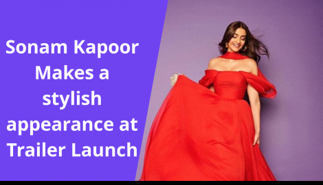 Sonam Kapoor looks stunning in red at the trailer launch of The Zoya Factor