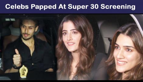 Kriti Sanon, Disha Patani and Tiger Shroff among others attend the special screening of Super 30