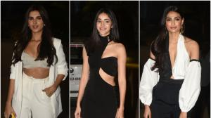 Athiya Shetty, Ananya Panday and Tara Sutaria work monochrome looks : Yay or Nay?