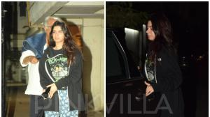 Photos: Khushi Kapoor and Boney Kapoor dine with Arjun Kapoor and Anshula Kapoor