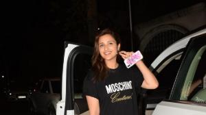 PHOTOS: Parineeti Chopra flashes her big smile as she was snapped outside Priyanka Chopra's house
