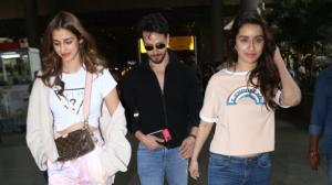 Baaghi 3 co stars Tiger Shroff, Shraddha Kapoor and Disha Patani are the perfect trio as they return to Mumbai