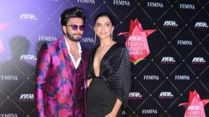 PHOTOS: Deepika Padukone and Ranveer Singh make for one hot pair at the Femina Beauty Awards