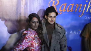 Star personalities Hina Khan and Priyank Sharma mark their presence at the song launch event