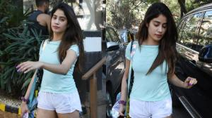 Janhvi Kapoor flaunts her stellar figure as she gets papped post workout session; See PHOTOS
