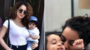 Tejas actress Kangana Ranaut is the best aunt to her nephew and THESE photos are proof; Check it out