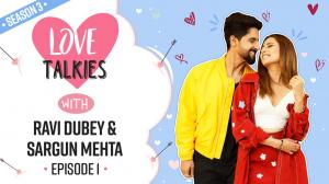 Love Talkies S3 Epi 1: Ravi Dubey and Sargun Mehta on their romantic meter, love story, proposal