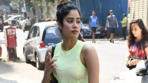PHOTOS: Janhvi Kapoor adds a pop of neon green to her athleisure as she steps out for a work out session