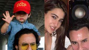 Jawaani Jaaneman: Saif Ali Khan is one cool dad as he poses with Sara Ali Khan, Ibrahim & Taimur Ali Khan