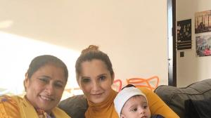 Sania Mirza shares an adorable three generation picture with her mom and  son Izhaan; See Photo