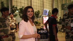Parineeti Chopra dons a pink coat; Sanjay Dutt's wife Manyata Dutt gets spotted at the airport