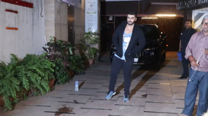 Arjun Kapoor snapped post workout outside the gym