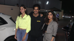 Ananya Panday, Bhumi Pednekar and Ishaan khatter make a stylish appearance at Bhoot special screening