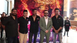 Saif Ali Khan, Ajay Devgn, Rohit Shetty arrived in style for the trailer launch of Tanhaji: The Unsung Warrior