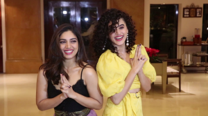 Taapsee Pannu and Bhumi Pednekar promote their upcoming film 'Saand Ki Aankh'
