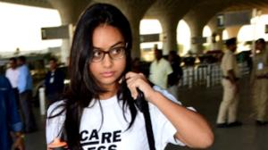 THROWBACK: When Nysa Devgn wore a 'Care Less Never Stress' tee & clicked selfies with her girl gang at airport