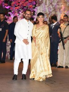 Aamir Khan and Kiran Rao attends Akash Ambani and Shloka Mehta's engagement ceremony