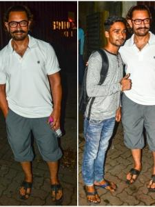 Aamir Khan gets snapped by the paps post spa session