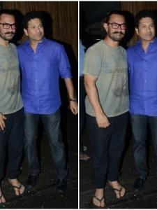 Aamir Khan hosted a dinner party at his residence last night