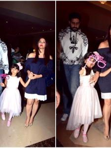 Aaradhya Bachchan and her A-list parents spotted on a dinner outing