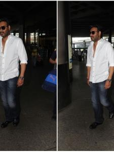 Ajay Devgn snapped by the paps at the airport
