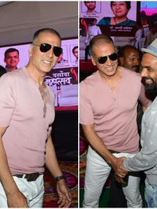 Akshay Kumar snapped at an event in the city today