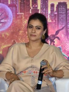 Kajol Devgan clicked by the paparazzi at an event