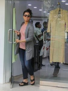 Kajol steps out in the city