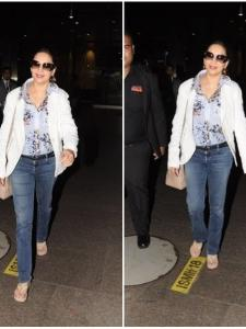 Madhuri Dixit spotted at the airport today