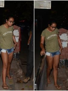 Nysa Devgn steps out in the city