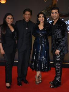 SRK, Rani Mukerji and Kajol arrives at KKHH's bash in style
