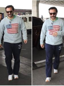 Saif Ali Khan gets papped at the airport