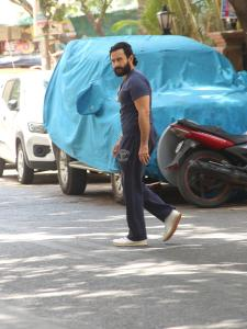 Saif Ali Khan gets snapped in the city