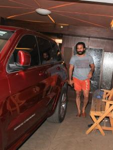 Saif Ali Khan snapped outside a clinic