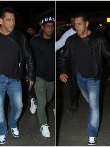 Salman Khan gets snapped by the paparazzi at airport