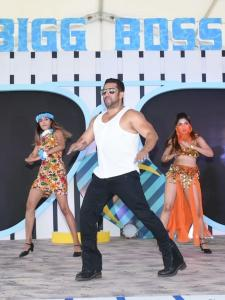 Salman Khan performs at the Bigg Boss 12 launch event