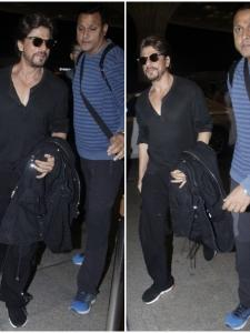 Shah Rukh Khan is all smiles while getting papped at the airport