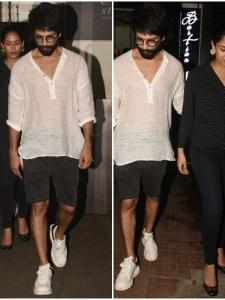 Shahid Kapoor and Mira Rajput snapped by the paparazzi post a dinner date