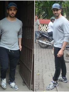 Sidharth Malhotra is all smiles while getting papped at a dubbing studio