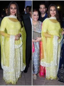 Sonakshi Sinha attends Poorna Patel's wedding reception with mom