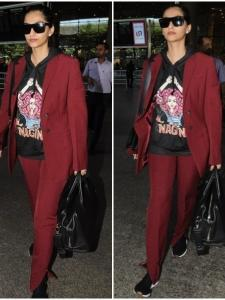 Sonam K Ahuja's recent airport look is on point