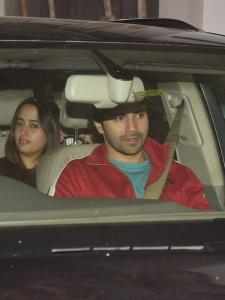 Varun Dhawan and Natasha Dalal papped at the screening of Badhaai Ho