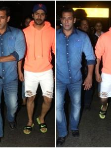 Varun Dhawan and Salman Khan keep it casual at the airport