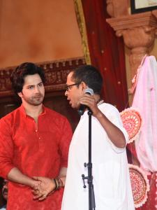 Varun Dhawan attends Durga Puja in the city