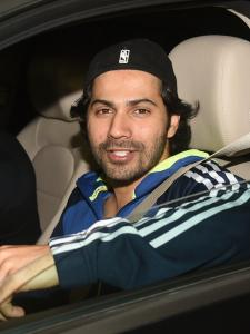 Varun Dhawan spotted at Karan Johar's house