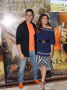 Akshay Kumar and Parineeti Chopra promote their upcoming film Kesari