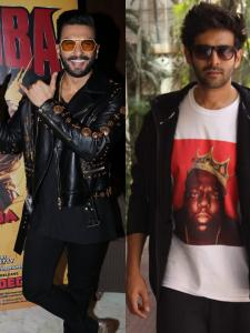 From Ranveer Singh to Kartik Aaryan, here's a look at times when celebs surprised their fans at movie theatres